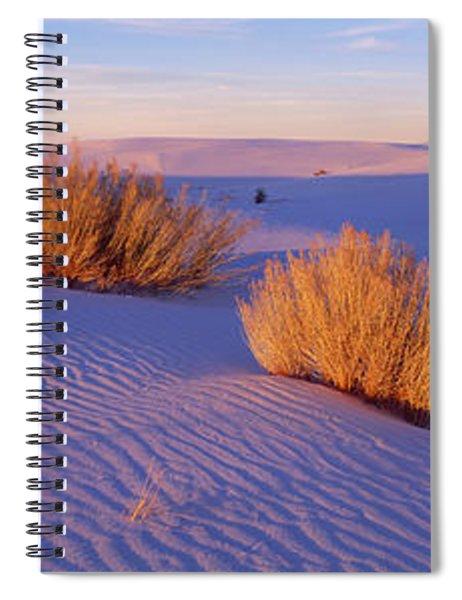 Bushes At White Sands National Spiral Notebook