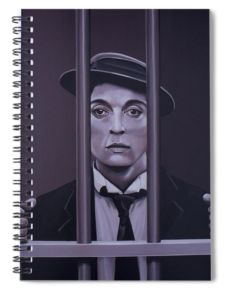 Buster Keaton Painting Spiral Notebook
