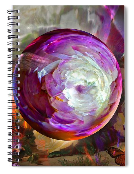 Butterfly Garden Globe Spiral Notebook