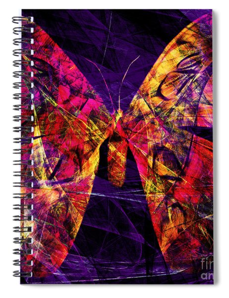 Butterfly In Abstract Dsc2977 Square Spiral Notebook