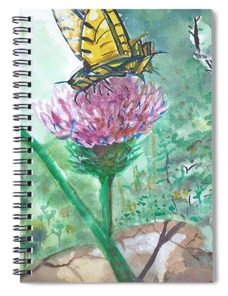 Butterfly On Flower  Spiral Notebook