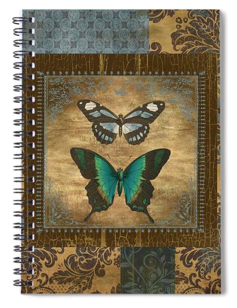Butterfly Patchwork Spiral Notebook