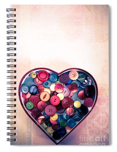 Button Love Spiral Notebook by Jan Bickerton