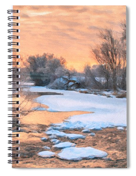 Spiral Notebook featuring the photograph By The Old Mill by Garvin Hunter