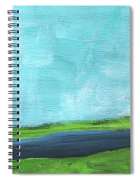 By The River- Abstract Landscape Painting Spiral Notebook