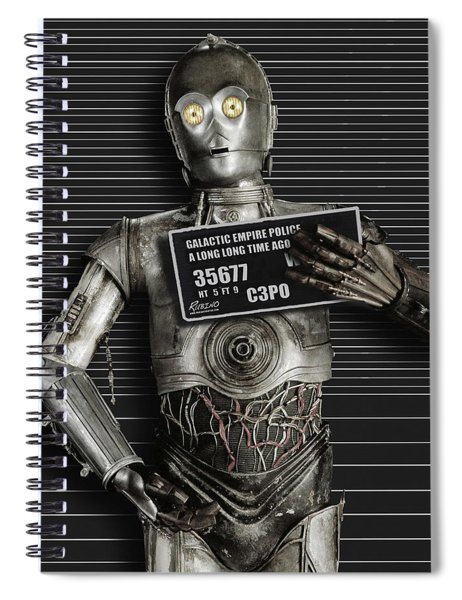 C-3po Mug Shot Spiral Notebook