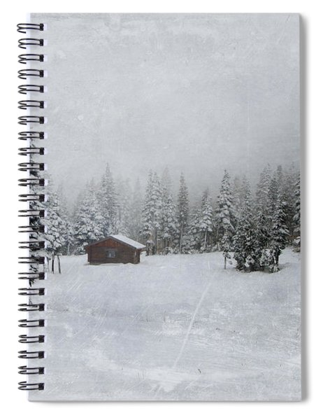 Cabin In The Woods-textured Spiral Notebook