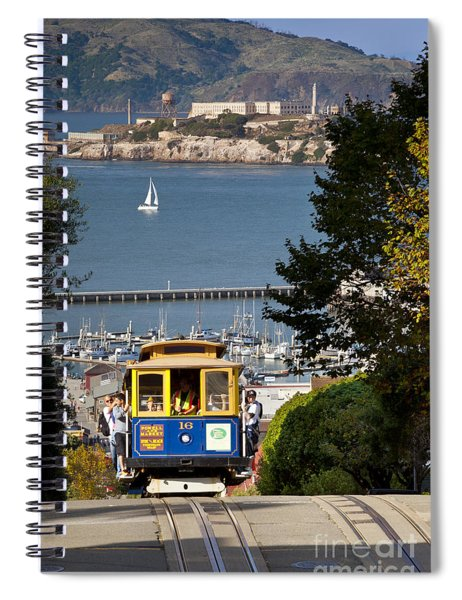Spiral Notebook featuring the photograph San Francisco Cable Car On Hyde Street Print By Brian Jannsen Photography by Brian Jannsen
