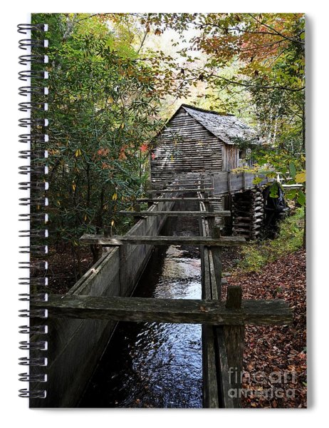 Spiral Notebook featuring the photograph Cable Grist Mill 3 by Mel Steinhauer