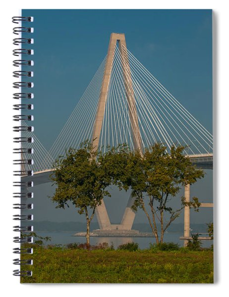 Cable Stayed Bridge Spiral Notebook
