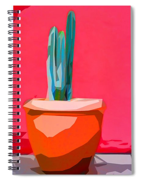 Cacti In Pot Collage Spiral Notebook