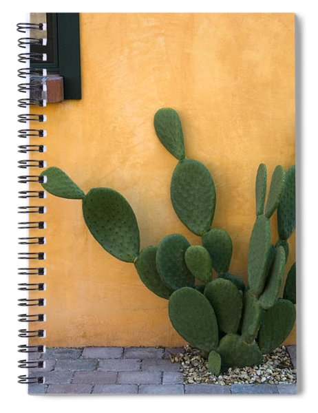 Cactus And Yellow Wall Spiral Notebook by Carol Leigh