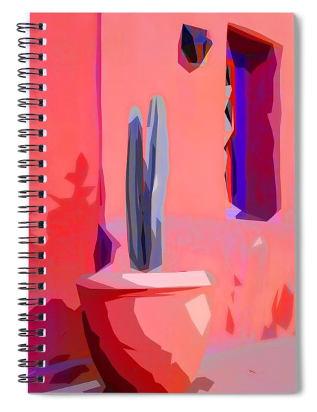 Cactus On Patio Collage Spiral Notebook
