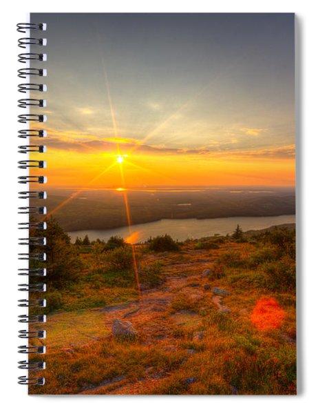 Cadillac Mountain Sunset Acadia National Park Bar Harbor Maine Spiral Notebook