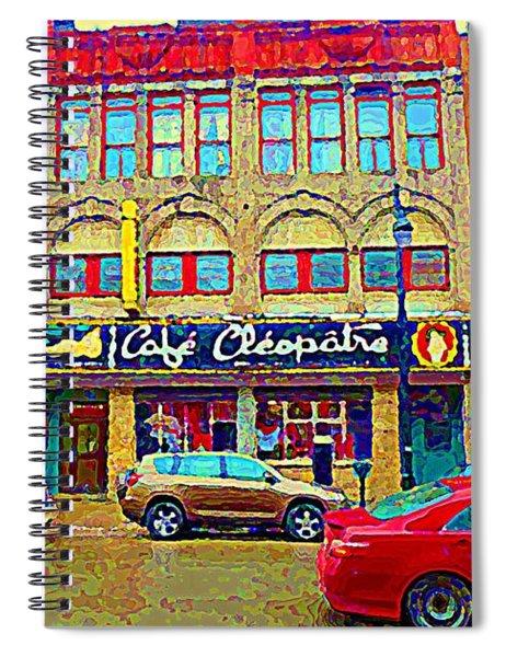 Cafe Cleopatra Nightclub St Laurent Taverns Bars Strip Clubs Downtown Urban Scenes C Spandau Spiral Notebook