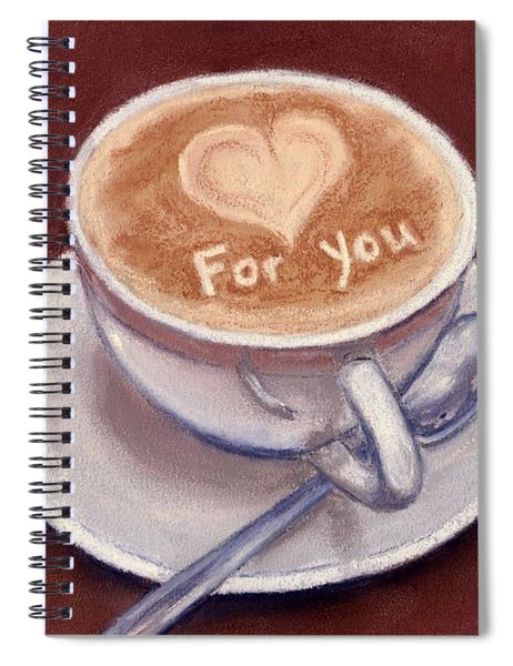 Caffe Latte Spiral Notebook