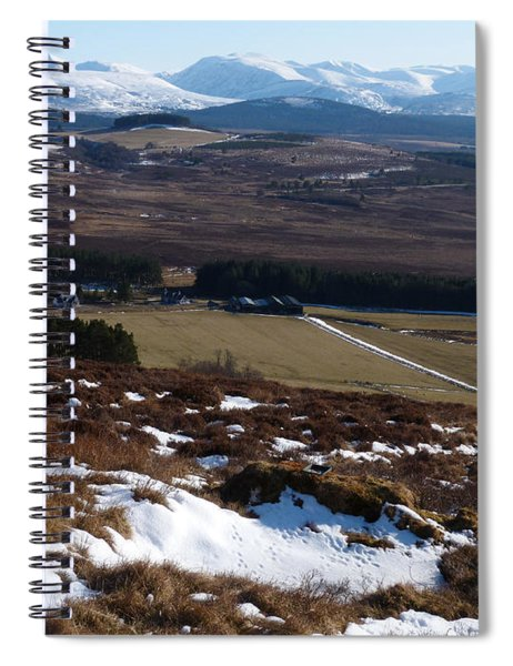 Cairngorms Mountains From Dorback Spiral Notebook