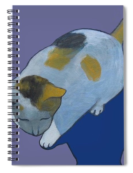 Calico On Purple Spiral Notebook