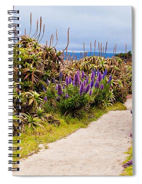 California Coastline Path Spiral Notebook
