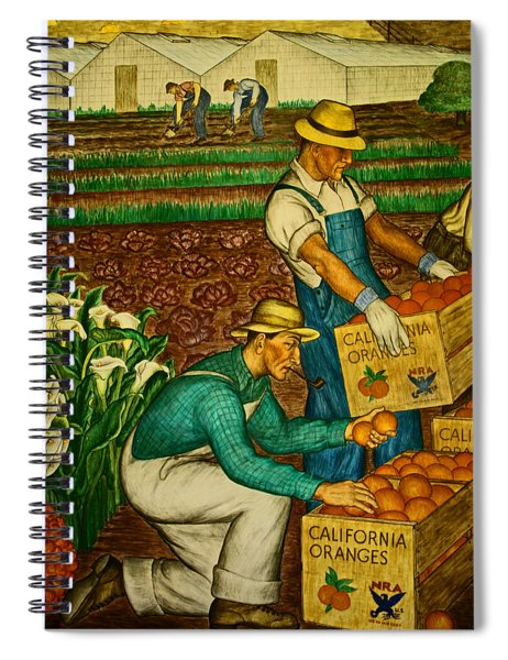 California Farmers Spiral Notebook
