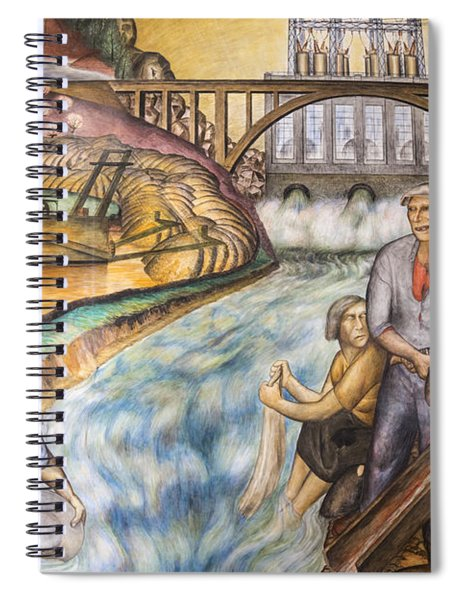 California Industrial Scenes Mural In Coit Tower Spiral Notebook