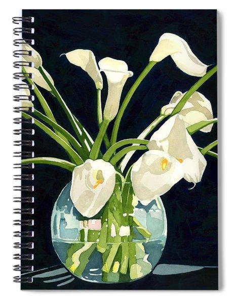 Calla Lilies In Vase Spiral Notebook