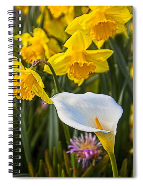 Calla Lily And Doffodils Spiral Notebook
