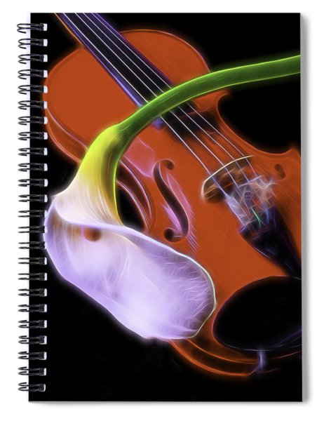 Calla Lily With Violin Spiral Notebook