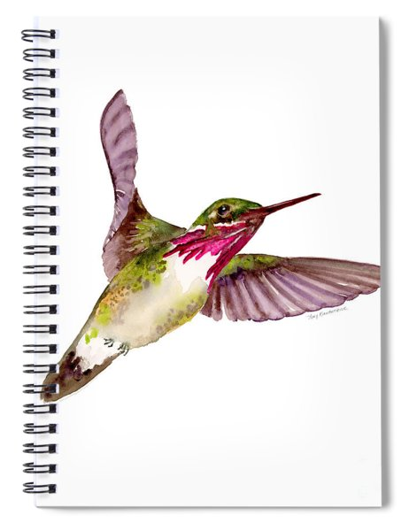 Calliope Hummingbird Spiral Notebook