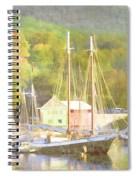 Camden Harbor Maine Spiral Notebook