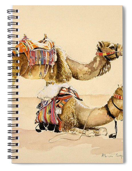 Camels From Petra Spiral Notebook