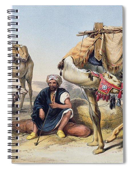 Camels Resting In The Sherkiyeh, Land Spiral Notebook