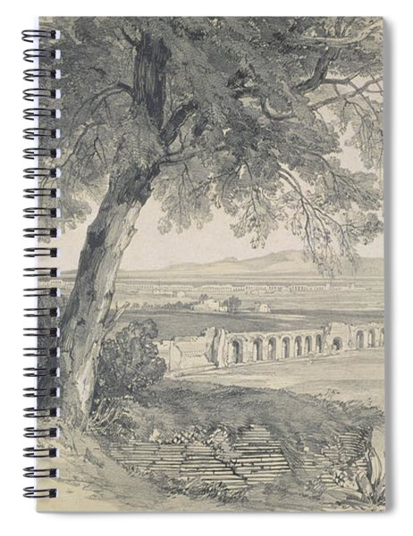 Campagna Of Rome From Villa Mattei Spiral Notebook