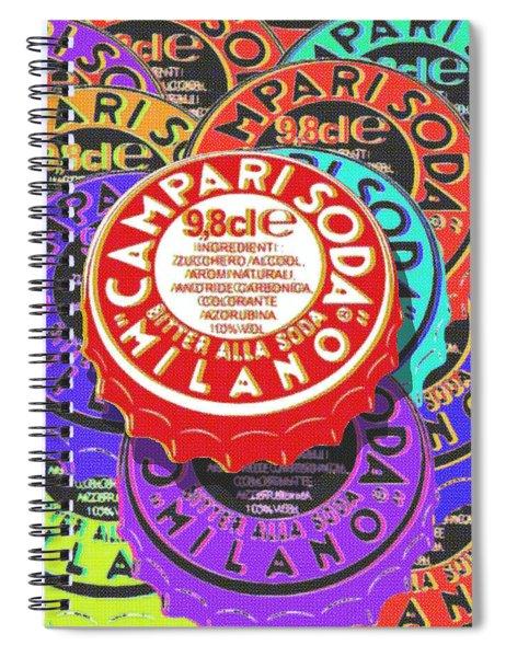 Campari Soda Caps Spiral Notebook