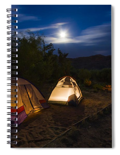 Campfire And Moonlight Spiral Notebook by Adam Romanowicz