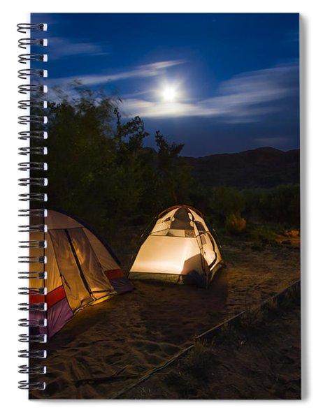 Campfire And Moonlight Spiral Notebook