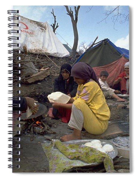 Camping In Iraq Spiral Notebook