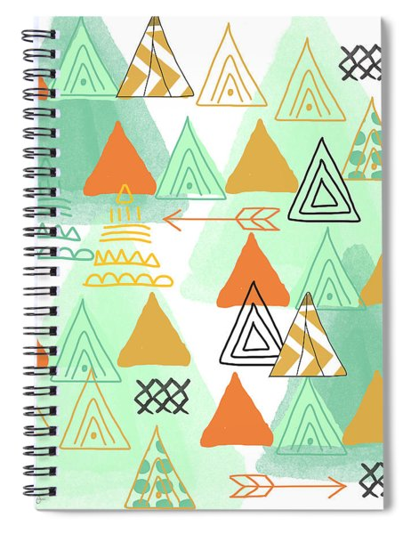 Camping Spiral Notebook by Linda Woods