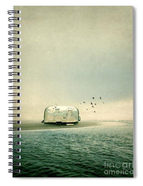 Camping On A Beach Spiral Notebook