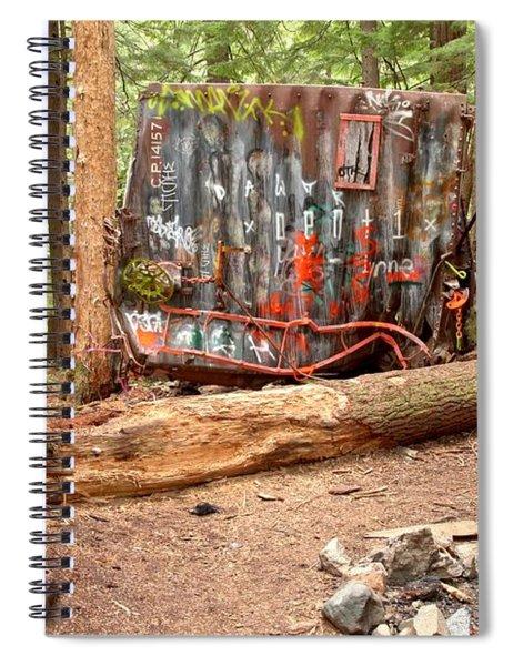 Campsite Near A Train Wreck Spiral Notebook