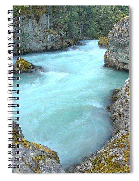 Canadian Glacier Fed River Spiral Notebook