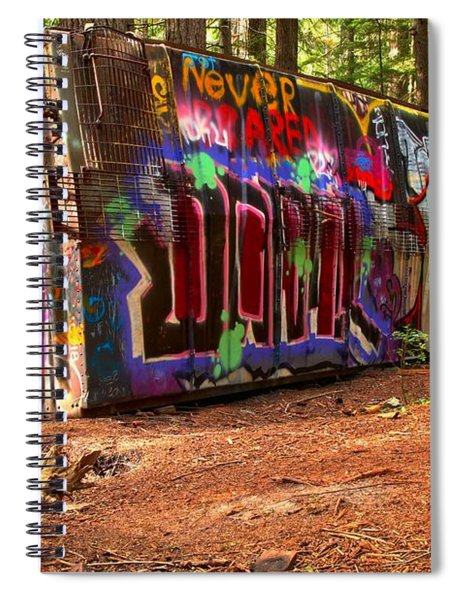 Canadian Pacific Deraiment Remnants Spiral Notebook