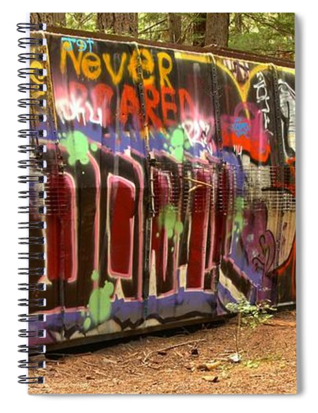 Canadian Pacific Train Wreck Graffiti Spiral Notebook