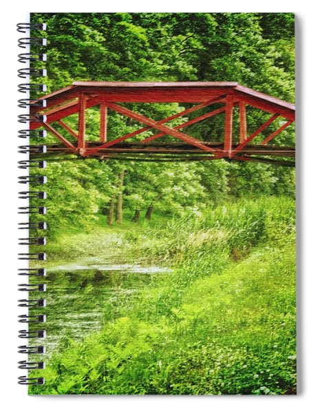 Canal Bridge Spiral Notebook