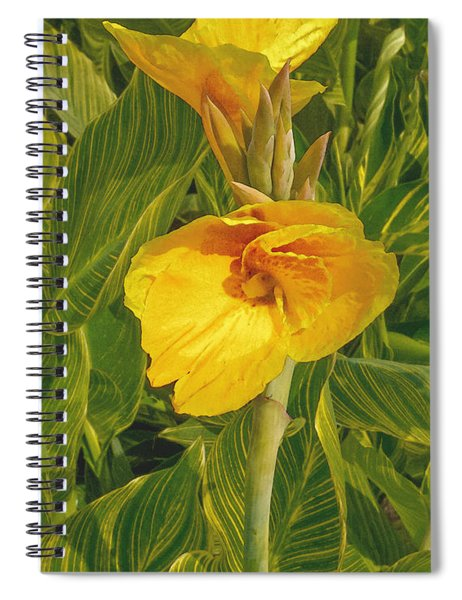 Canna Lily Artified Spiral Notebook