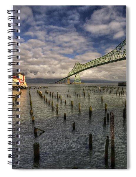 Cannery Pier Hotel And Astoria Bridge Spiral Notebook