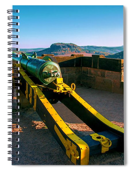 Cannon At The Fortress Koenigstein Spiral Notebook