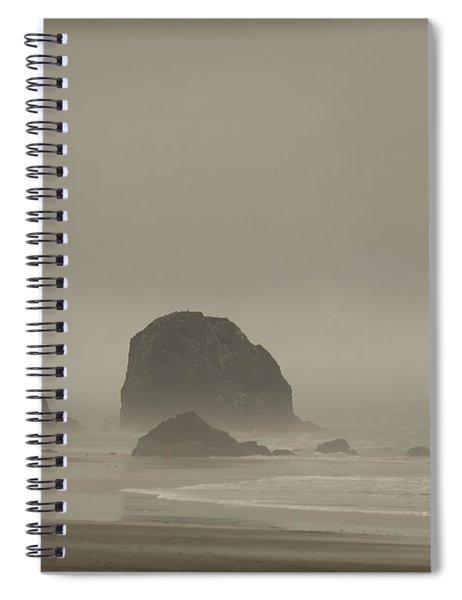 Cannon Beach In A Fog Oregon Spiral Notebook