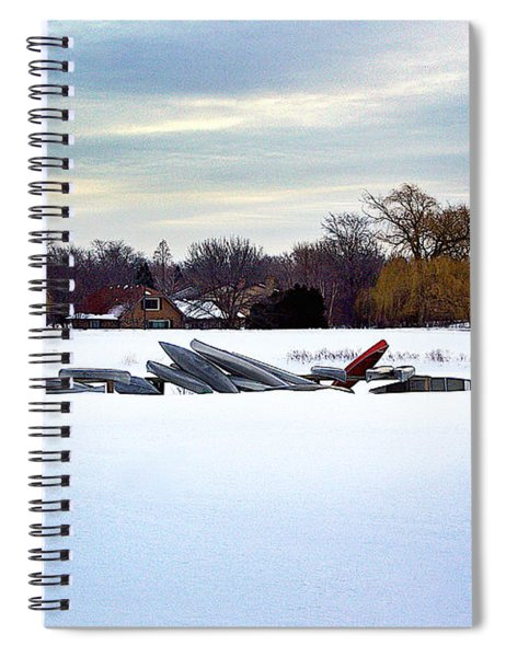 Canoes In The Snow Spiral Notebook