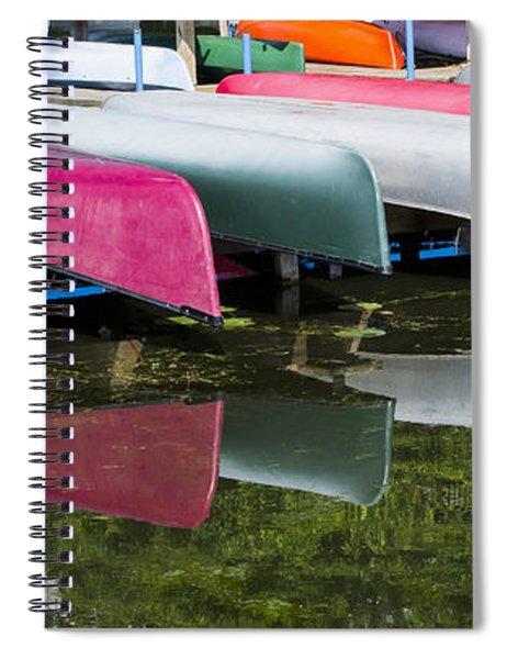 canoes - Lake Wingra - Madison  Spiral Notebook